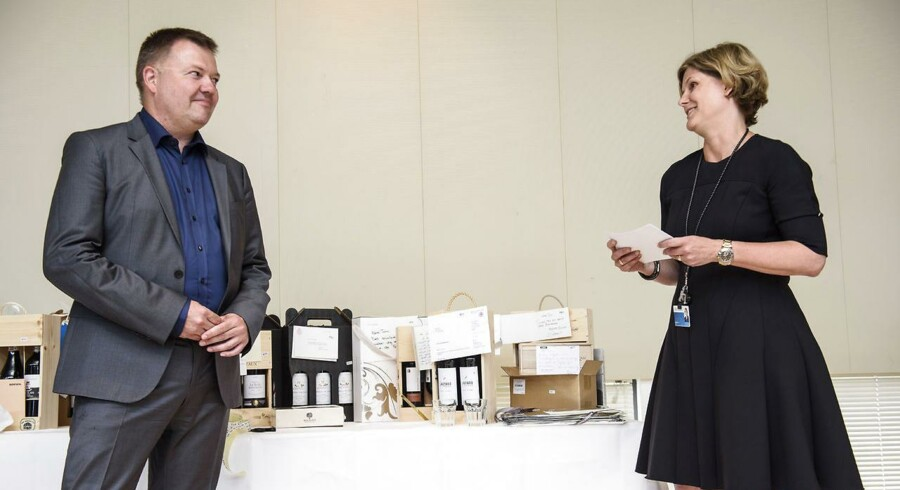 Reception ved ansvarshavende chefredaktør Tom Jensens 50 års fødselsdag