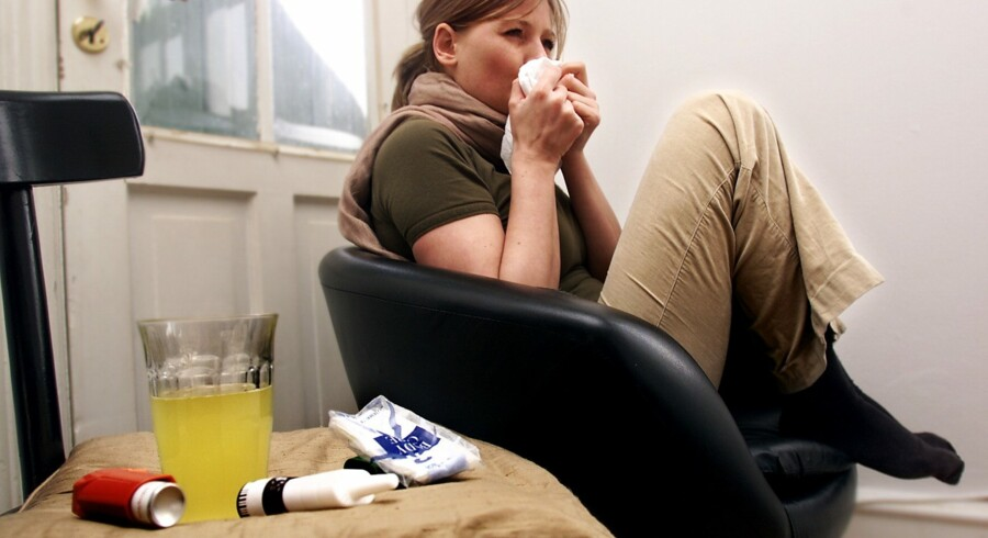Influenza er en virusinfektion. Den rammer især fra december til marts. Vaccination kan forebygge dødsfald, men der er fortsat mange i risikogruppen, som ikke vaccineres. ARKIVFOTO. Scanpix/Maria Hedegaard