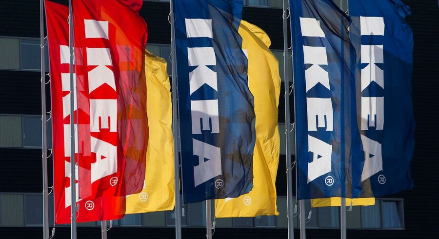 IKEA flags are seen outside IKEA Concept Center, a furniture store and headquarters of the IKEA brand owner Inter IKEA, in Delft, the Netherlands March 16, 2016. REUTERS/Yves Herman/File Photo