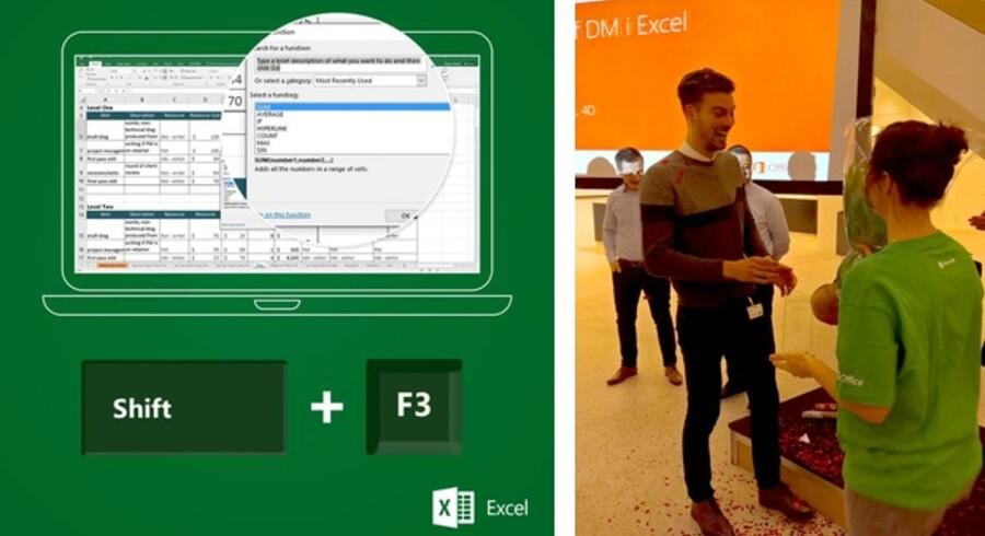 Microsofts vidt udbredte regneark, Excel, er meget andet end bare tal. Det kan bruges til uendeligt meget - og naturligvis også til at få overblik over tal. Danmarks bedste taltryllekunstnere skal nu vise deres kunnen og dyste mod danmarksmesteren Castor Valbum, som i foråret vandt sin titel. Fotos: Microsoft