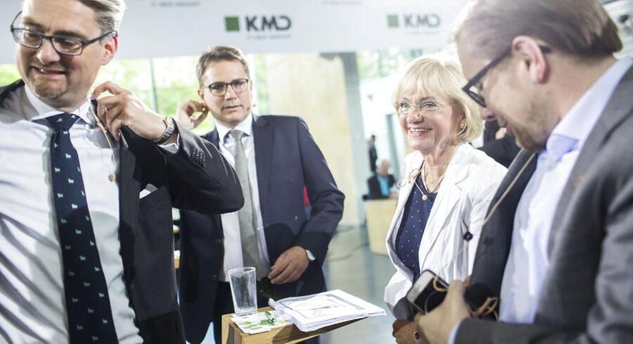 Blå blok. Søren Pind (V), Brian Mikkelsen (Konservative), Pia Kjærsgaard (Dansk Folkeparti) og Simon Emil Ammitzbøll (Liberal Alliance)
