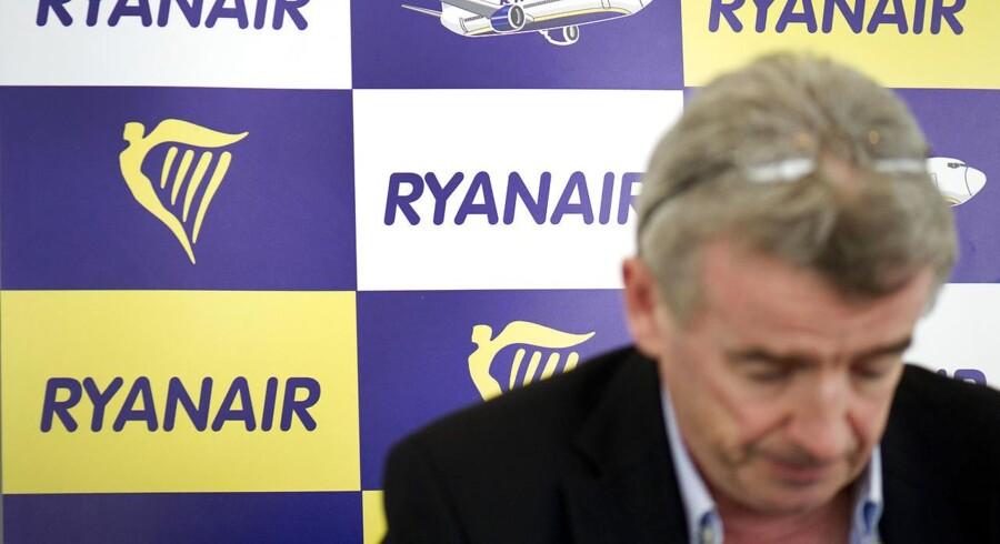 Ryanairs direktør Michael O'Leary står overfor de første pilotstrejker i lavprisselskabets historie. (Foto: CLAUS FISKER/Scanpix 2015)