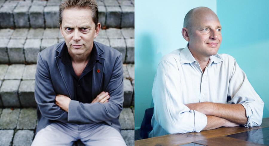Hårdere straf til pædofile er ikke nødvendigvis en løsning, mener Kuno Sørensen fra Red Barnet (tv.) og Rasmus Kjeldahl fra Børns Vilkår (th.).