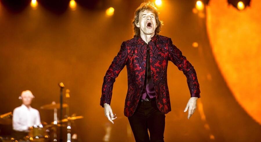 Forsanger Mick Jagger under The Rolling Stones koncerten tirsdag den 3. oktober i Telia Parken i København.. (Foto: Mads Claus Rasmussen/Scanpix 2017)
