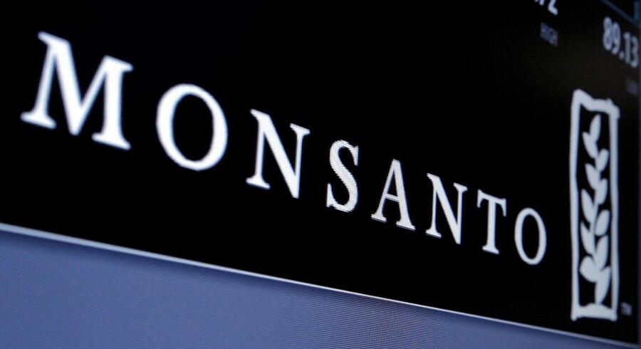 Det amerikanske selskab Monsanto, som enzymgiganten Novozymes arbejder sammen med, står over for at blive solgt til tyske Bayer for en pris på 62 mia. dollar - svarende til omkring 410 mia. kr. (REUTERS/Brendan McDermid/File Photo)