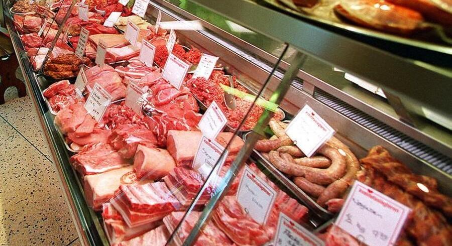 Kød hos slagteren.