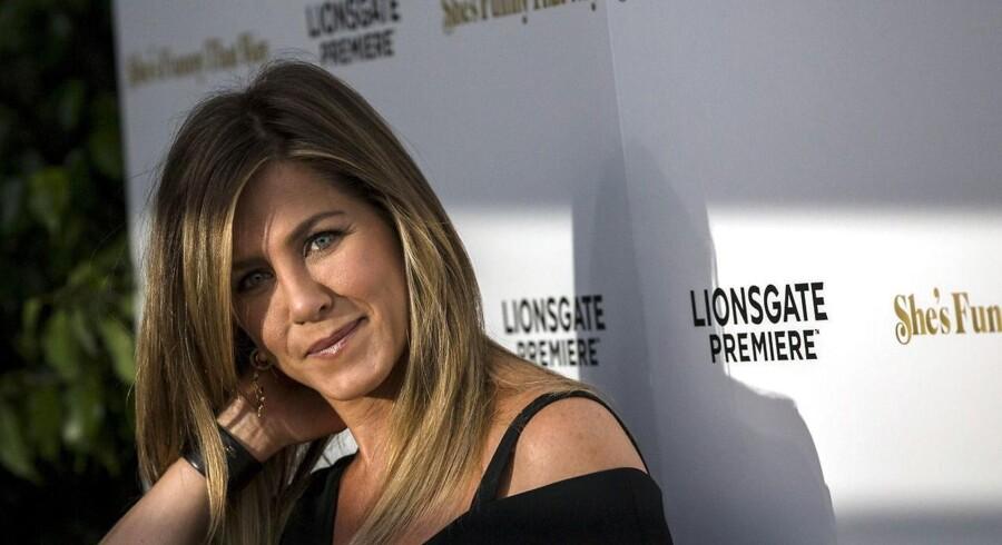 Jennifer Aniston bliver jævnligt fotograferet på den røde løber. Her ses hun til premiere på filmen »She's Funny That Way« i Los Angeles, Californien, august sidste år.