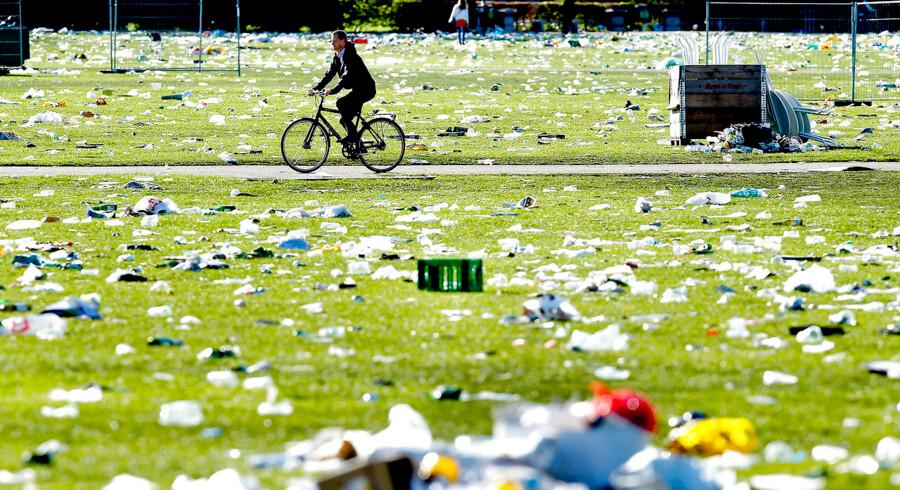 ARKIVFOTO. Fælledparken 2. maj 2012 - dagen efter de røde faners fest.