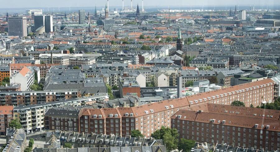 Se Ritzau: Danmark: Markant stigning i boligpriserne i andet kvartal. København. set fra Valby. Ny Carlsbergvej