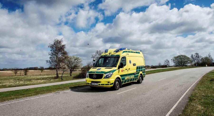 En ny beredskabsaftale mellem Danmark og Tyskland skal sikre, at den nærmeste ambulance eller brandbil sendes afsted, når uheldet er ude. Arkivfoto. Pressefoto, Falck
