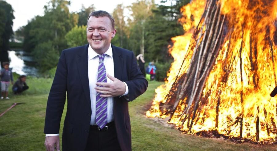 Lars Løkke Rasmussen afholdt også i 2010 Sankt Hans-aften på Marienborg. Det gentager han i dag.