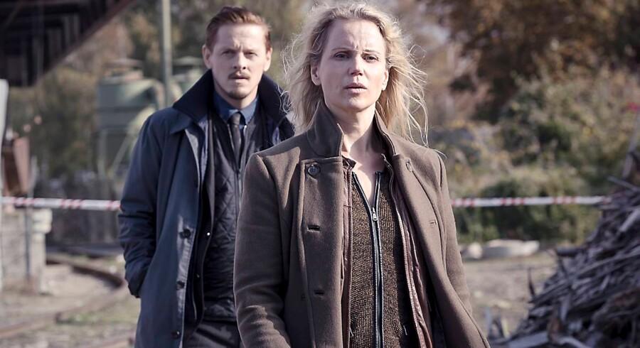 Thure Lindhardt og Sofia Helin i tredje sæson af Broen - skal snart i gang med optagelserne til fjerde omgang. Pressefoto.