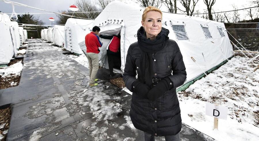 Udlændinge, integrations- og boligminister Inger Støjberg besøgte mandag formiddag den nyoprettede flygtningelejr hos Beredskabscenter Thisted.