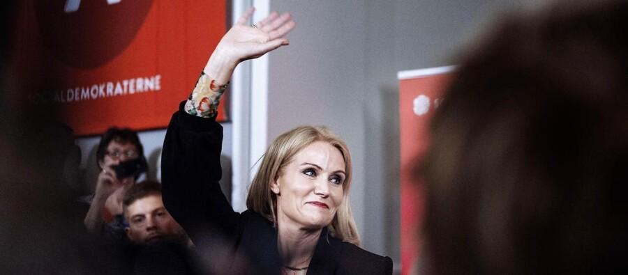 Socialdemokraterne holder valgfest i Fællessalen på Christiansborg på valgdagen, torsdag den 18. juni 2015. Helle Thorning-Schmidt træder tilbage som formand for Socialdemokraterne.