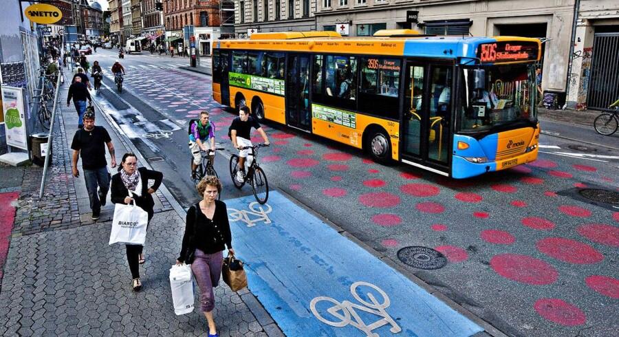 Nørrebrogade er én af de københavnske gader, som alligevel bliver bilfri den 18. september.