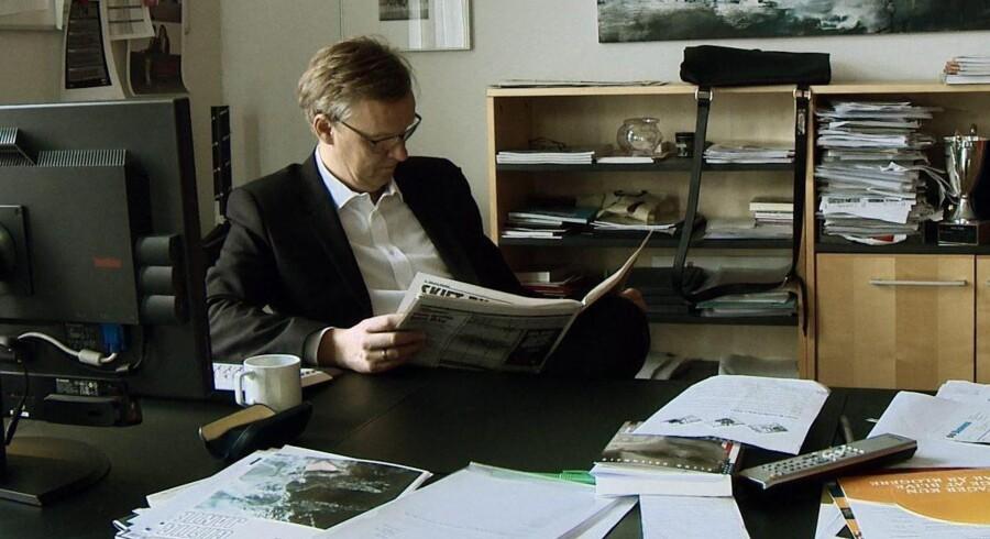 Poul Madsen er manden ved roret og hovedpersonen i dokumentarfilmen »Ekstra Bladet uden for citat«. Foto: Mikala Krogh.