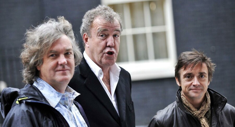 Top Gear-holdet i London. Fra venstre James May, Jeremy Clarkson og Richard Hammond (th)
