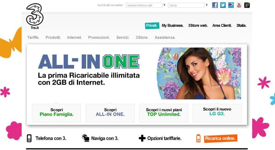 Det bliver nu for alvor »all-in-one«, når Telenor og »3« forener kræfterne i Italien.