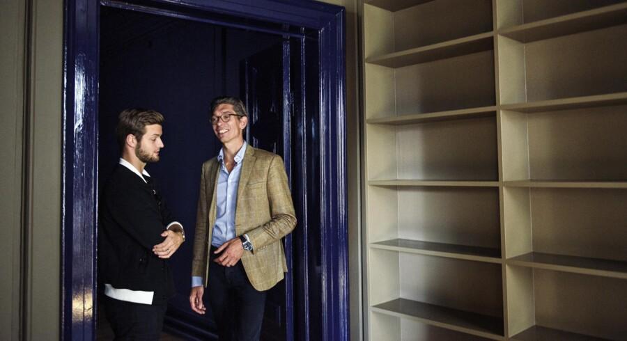 Johan Bülow (tv.) og Adam Schnack i det nye digitale ejendomsfirma. (Foto: Niels Ahlmann Olesen)