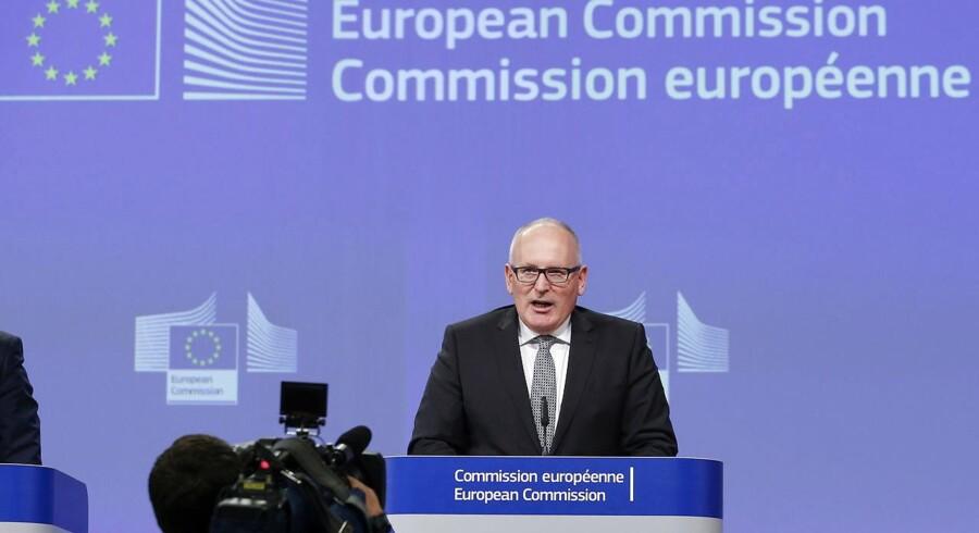 »Retsstatens principper er fundamentale værdier i EU. Vi har haft en grundig diskussion, især om forfatningsdomstolen, og Kommissionen vil udføre en indledende vurdering inden for rammerne af retsstatmekanismen,« sagde EU-Kommissionens 1. næstformand, Frans Timmermans, på et pressemøde onsdag eftermiddag.
