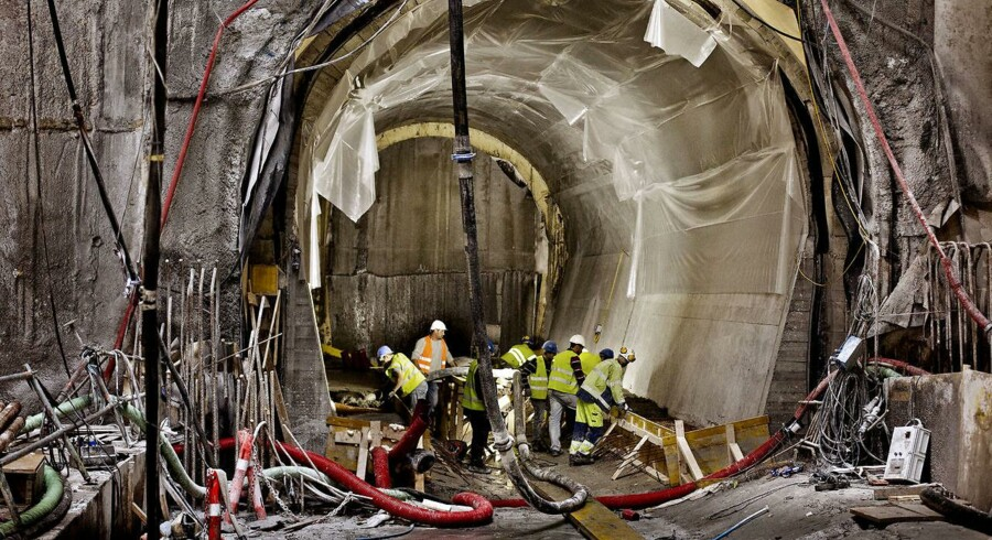 120 medarbejdere på metrobyggeriet kan se frem til at dele 19 mio. kr. mellem sig efter fagforeningen 3F BJMF og metroentreprenøren CNBT har indgået et forlig. (Arkivfoto)