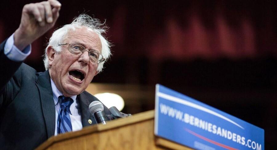 Den demokratiske præsidentkandidat Bernie Sanders.