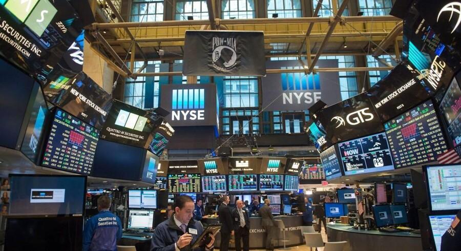 Arkivfoto. Fremgangen fortsatte på det amerikanske aktiemarked, der igen mandag lukkede med friske rekorder.