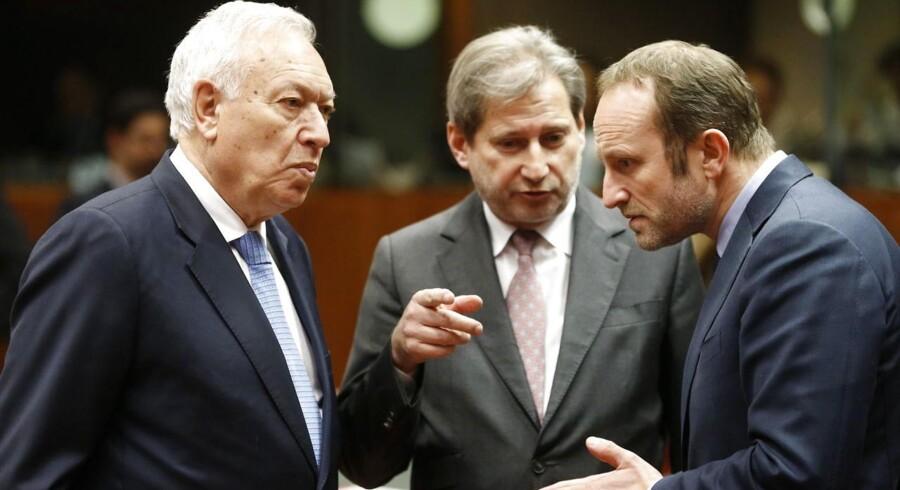 Arkivfoto. Udenrigsminister Martin Lidegaard ved dagens EU-møde.