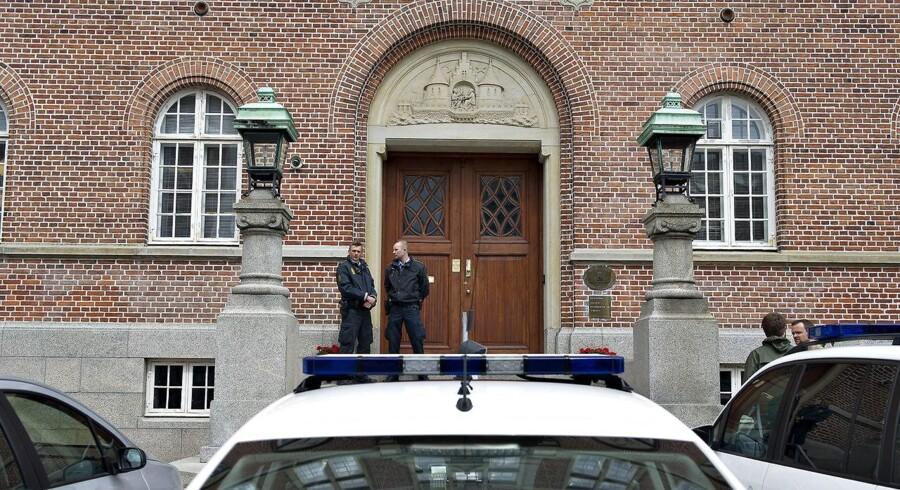 Arkivfoto: Retten i Aarhus har igen haft retsmøde i en stor kompleks kompleks sag om indførsel af hash i Danmark. (Foto: Henning Bagger/Scanpix 2012)