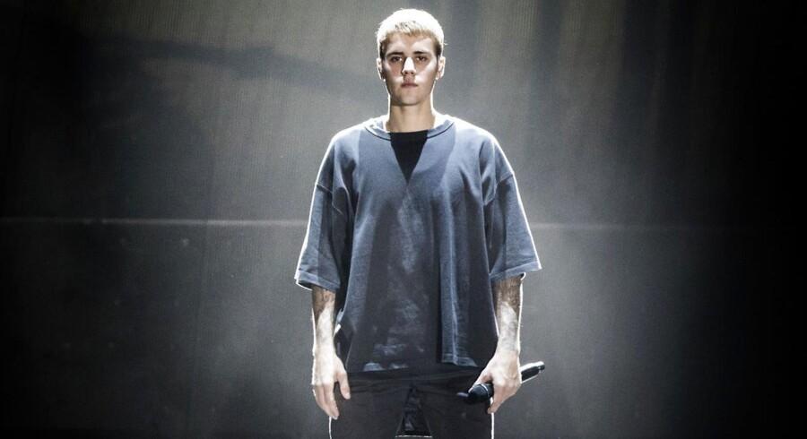 Den amerikanske sanger Justin Bieber på scenen i Parken søndag 2. oktober 2016.