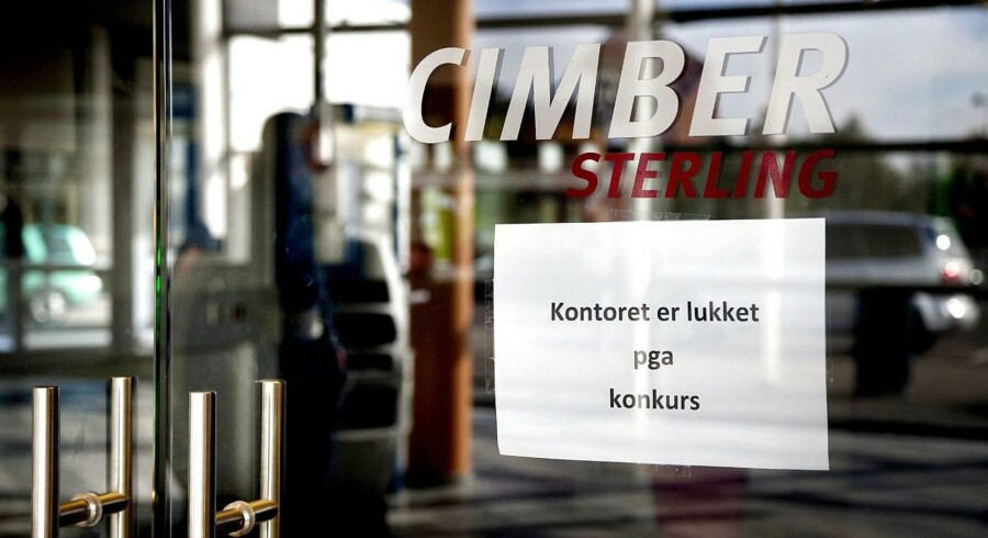 Cimber Sterlings konkursbegæring nærmer sig sin afslutning - og der bliver ikke penge til kreditorer og lønmodtagerkrav..