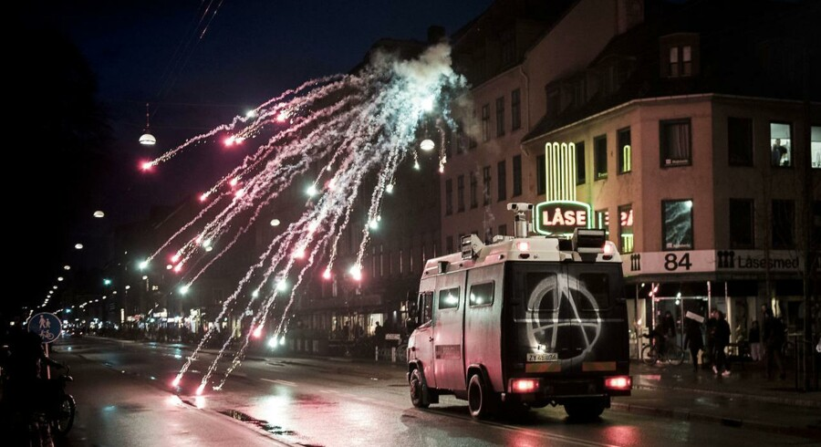 Ungdomshuset i København afholdt onsdag den 1. marts 2017 en demonstration i anledning af 10-året for rydningen af Ungdomshuset på Jagtvej 69.