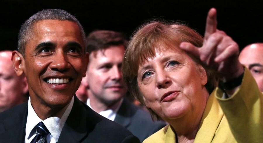 Det officielle besøg i Tyskland, som er Obamas femte i forbundsrepublikken, er centreret omkring en transatlantisk frihandelsaftale mellem EU og USA.