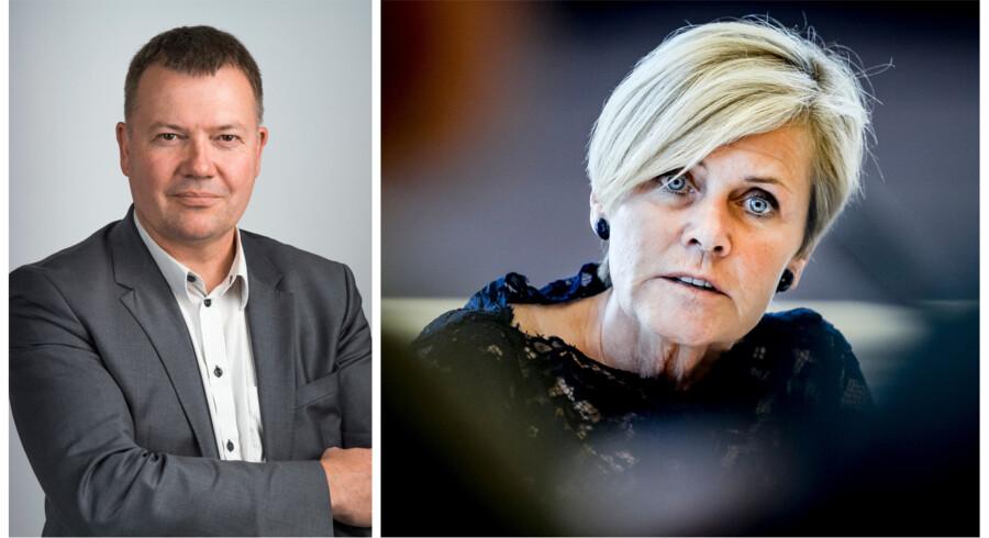 Tom Jensen, ansvarshavende chefredaktør Berlingske, og kulturminister Mette Bock (LA). Foto: Søren Bidstrup/Mads Claus Rasmussen