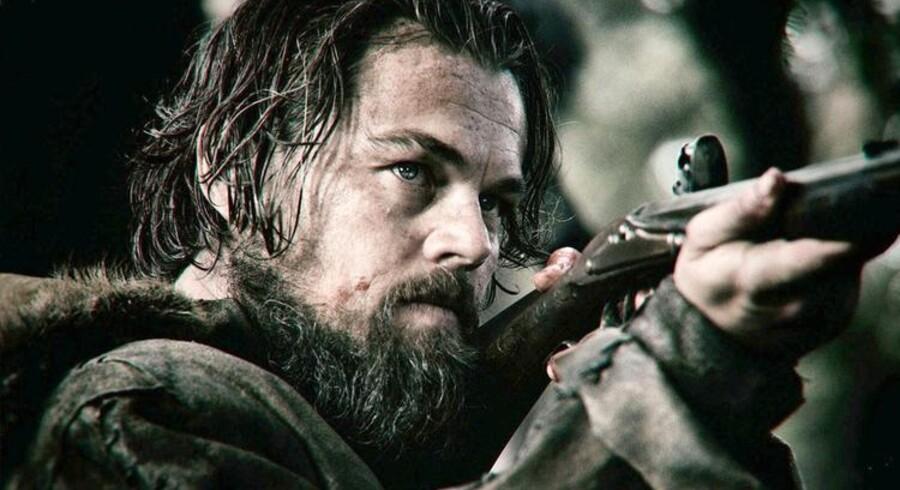 Måske vinder Leonardo DiCaprio, som her ses i »The Revenant« endelig en Oscar på søndag?
