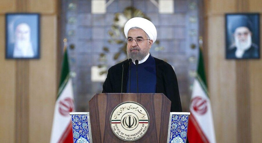 Irans præsident Hassan Rouhani d. 14/7-15