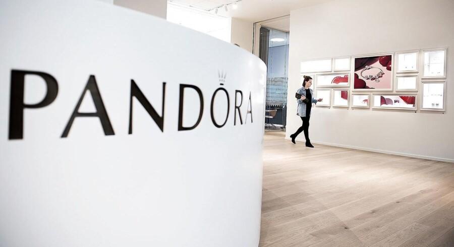 Smykkefirmaet Pandora ligger i toppen af C20 Cap-indekset.