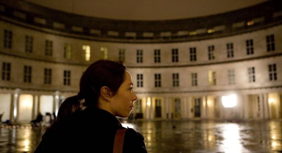 """Sofie Gråbøl her i rollen som Sarah Lund i DRs krimiserie """"Forbrydelsen""""."""