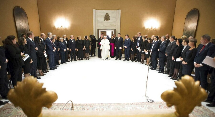Pave Frans opfordrede de forsamlede miljø- og klimaministre til at få lavet en fælles aftale.