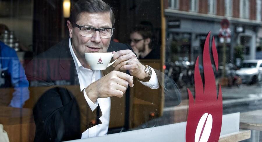 Mandag: Kaffekæden Baresso blev mandag solgt til tyske Jab Holding, der for nylig købte en lignende kæde i Sverige. Nu planlægger tyskerne stor ekspansion. På billedet ses Baressos administrerende direktør Kenneth Luciani.