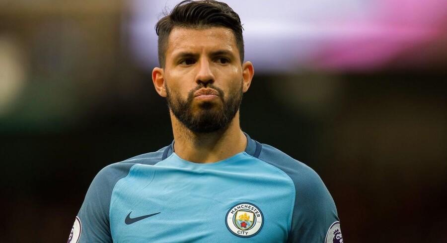 Manchester Citys Sergio Aguero.