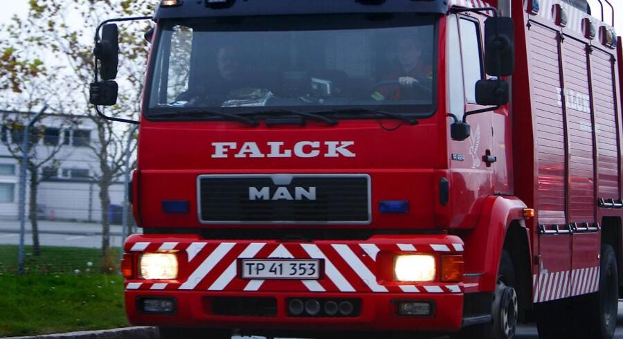 Arkivfoto af en brandbil.