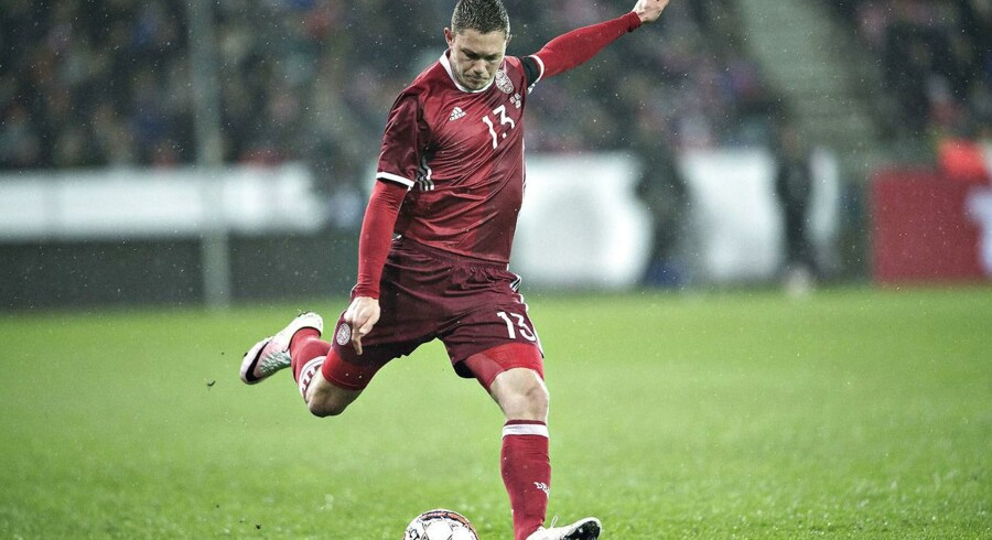 Danmark - Island , venskabslandskamp MCH-Arena i Herning: Danmarks Henrik Dalsgaard
