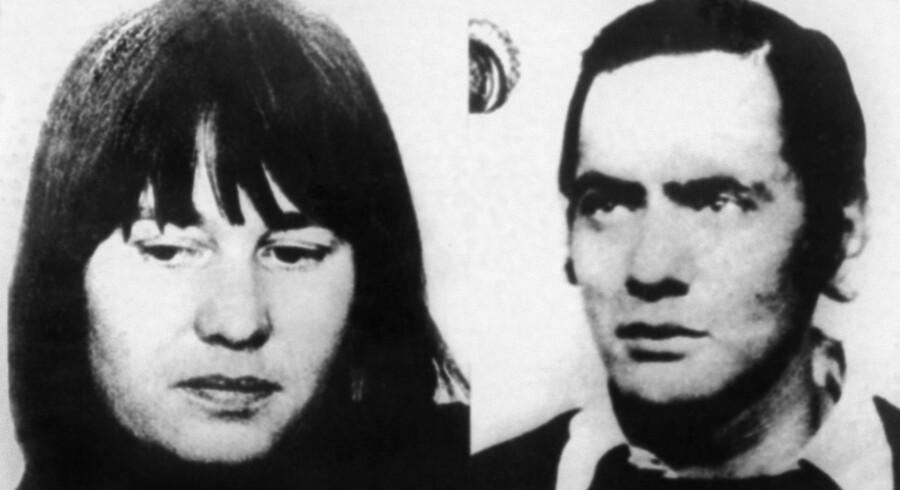Billede af Ulrike Meinhof og Andreas Baader, lederne af Rote Armee Fraktion.