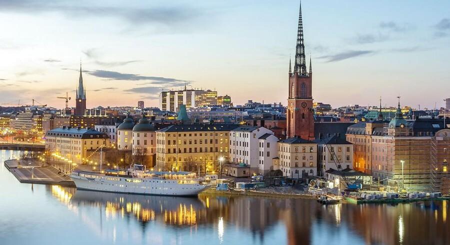 Sverige topper i Europa målt på virksomheder i vækst. 555 af dem er der i nabolandet, og den svenske hovedstad, Stockholm (billedet), kommer med 118 vækstvirksomheder ind på 2.-pladsen over de bedste vækstbyer efter London med 151. Arkivfoto: Iris/Scanpix
