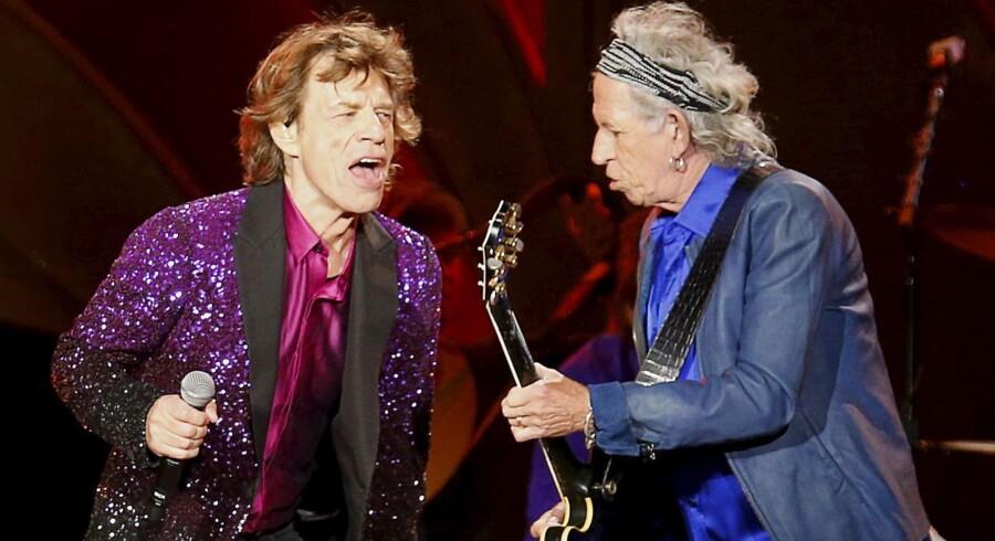 Mick Jagger og Keith Richards side om side.