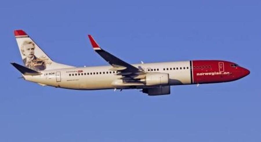 Norwegian måtte mandag aflyse en stribe afgange, da man ikke kunne skaffe piloter i den travle sommersæson. Free/Norwegian Air Shuttle / Arkiv
