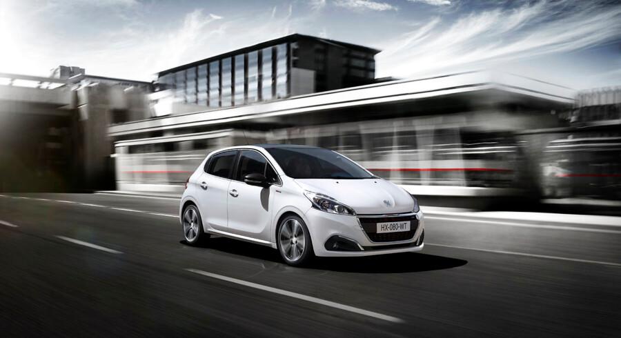 Peugeot 208 holder fast i pladsen som årets mest solgte bil i 1. kvartal 2017.