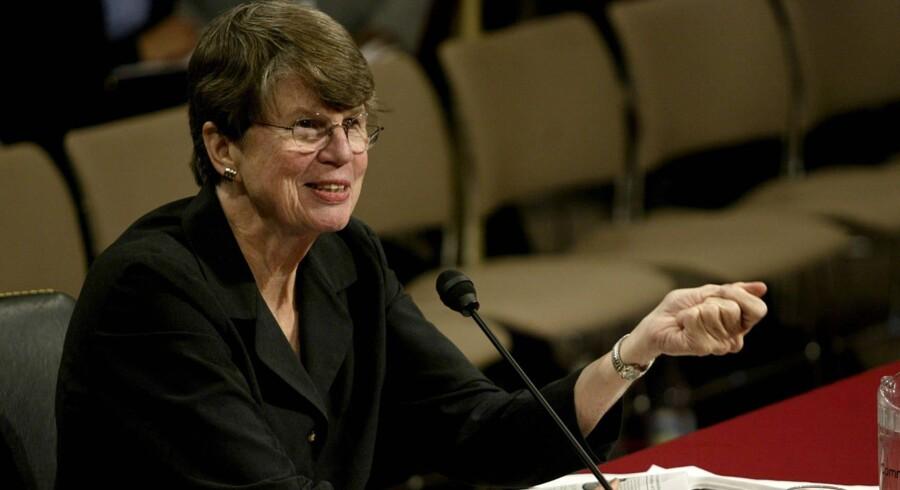 Janet Reno, der var USA's første kvindelige justitsminister, sad på posten frem til 2001. Arkivfoto Scanpix/Tim Sloan