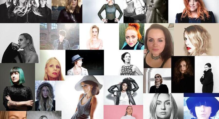 """Den svenske grupper Vo PAM har sammen med 56 kvindelige svenske musikere udgivet #MeToo-sangen """"Vad dom än säger""""."""